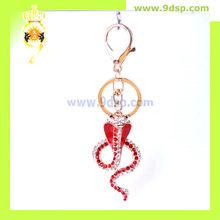 2013 New Fashion Cobra Snake Rhinestone Enameled Keychain