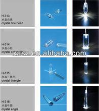 Crystal End Fitting for Fiber Optic Light