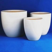 White glazed large cheap ceramic flower pots and planter