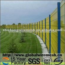 Decorative wire mesh garden fence
