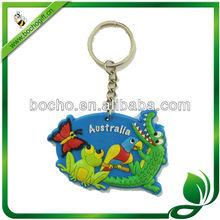 Custom pvc keyrings for gift