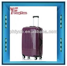 2014 china alibaba decent bag luggage trolley case,pc trolley luggage,cheap luggage bags with aluminum frame