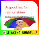 2014 Practical cheap rain or shine umbrella hat