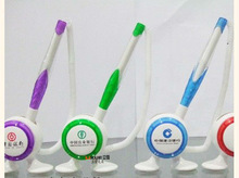 Promotional 1423 fine 0.7mm plastic Ball Pen with Stand for Banks and Hospitals