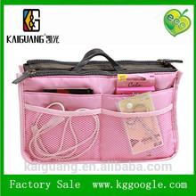 Hot selling Pink Women Lady Handbag bag in bag Purse Organizer Insert large Liner Cosmetic travel Bag