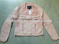 2014 fashion pu leather jacket for woman