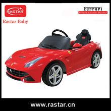 Licensed Rastar Ferrari battery operated kidsride on baby car toys for children
