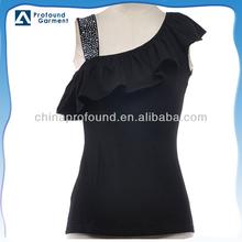fashion shirt latest design slim fit beaded cotton shirt for women 2015