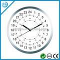 metal 30cm 24 hora analógica relógio de parede