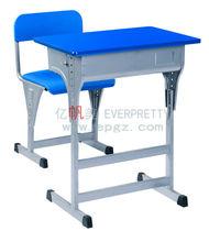 modern school desk and chair,adjustable study desk,single seat desk set
