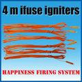 /fedex dhl el envío gratis 4 m ifuse ignitores, de seguridad ignitores, eléctrico con el partido de pirógenos, con la pistola en polvo para la exhibición de fuegos artificiales
