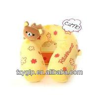 New Japan San-x Rilakkuma Relax Bear Massage Vibrational U-Shape Neck Pillow