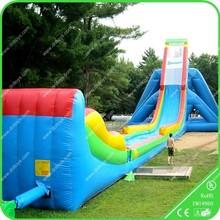 fire truck inflatable water slide,commercial grade wet slide