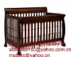 4 in 1 Convertible Crib in Espresso,solid wood Baby Bed,luxury baby nursery furniture