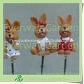lapin de pâques décoration bâton