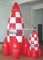 Inflables de PVC de aire rocket inflado modelo de cohete