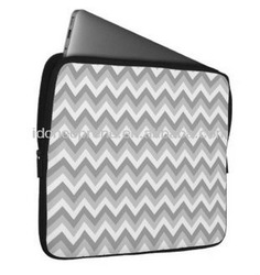 "10"" Fashion New Design Neoprene Laptop Case Sleeve-Grey and White"