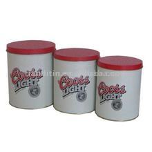 Top grade round shape chinese tea tin box