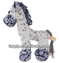 handmade fabric toy horse stuffed flower cloth pony doll new cheap animal toys for kids