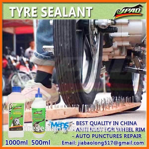 Reifenpanne Reparatur mit Reifendichtmittel