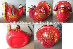 inflatable air toys,non-toxic PVC air turkey inflatable turkey, inflated turkey model
