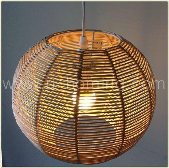 lampadari in rattan : natura rattan palla lampada a sospensione-Lampadari-Id prodotto ...