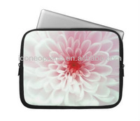 2014 Cute Pink red and white Flower Laptop Computer Sleeves