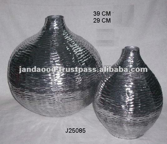 Les mod les martel vase en poli miroir en t le d - Aluminium poli miroir ...