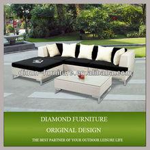 HOT SALE!!!poly rattan modern furniture rattan sofa latest corner sofa design