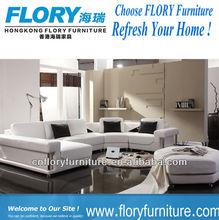 Luxury top grain leather modern corner couch F903