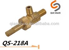 0degree single nozzle brass gas valve for oven/stove