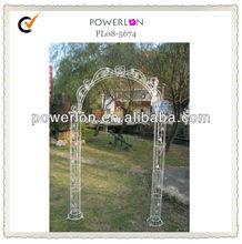 Ornate White Metal Wedding Arch