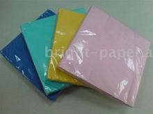 colored cocktail napkin paper tissue