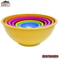 Melamine Mixing Bowls With Lid Set 6pcs- vibrant colours