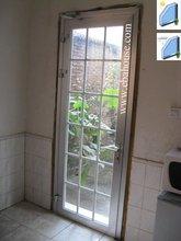 EBA aluminium door aluminium double glazing entry door exterior single french doors with grill design