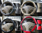 Wholesale PU+suede fabric+sponge car steering wheel cover/ heated steering wheel covers/China manufacturers