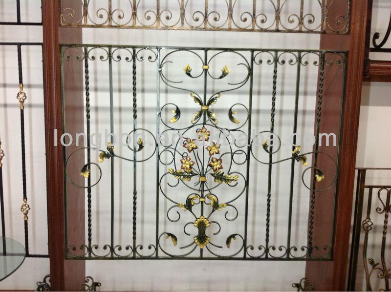 2014 superior- venta de seguridad ventana de hierro forjado diseño de ...