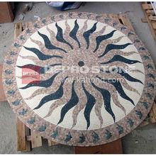 Marble Stone Mosaic Sun Patterns