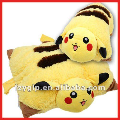 Vida de pelúcia travesseiro pokemon, dobrar almofada para o presente