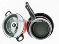 De acero al carbono con no- palo cocinar establece la cacerola freír cacerola olla de la leche y la sopa de olla con tapa de vidrio