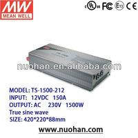 Meanwell 1500W True Sine Wave DC-AC Power Inverter/inverter charger pure sine/wind inverters