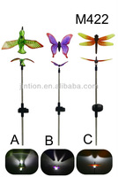 Hummingbird dragonfly butterfly Solar Spike Lights 3 Pack