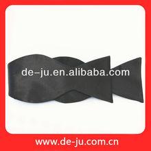 China Black Polyester Satin Fabric Gentleman Fashion Bow Tie Boy Bow Tie