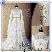 JJ3521 Real sample Long Sleeves muslim Wedding Gown pictures
