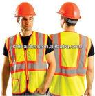 ANSI Hi vis Two-Tone Mesh Safety Warning Vest with pocket