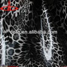 pvc mirror face leopard design artificial bag leather