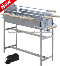 Stainless Steel Commercial Charcoal Barbecue Grill with electric motor