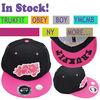 Custom 3D Embroidery Flat Brim Snapback Hats Caps