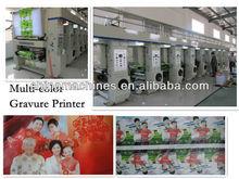 Plastic Film High Speed Computer Control Rotogravure Printing Machine