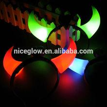 halloween Super Large Light up red devil horns led headband